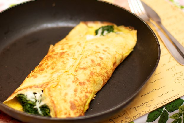 French Omelette with Spinach | we cook at home