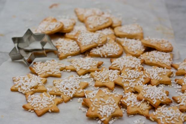 biscotti con fiocchi di neve
