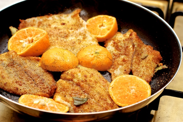 platessa al profumo di mandarino