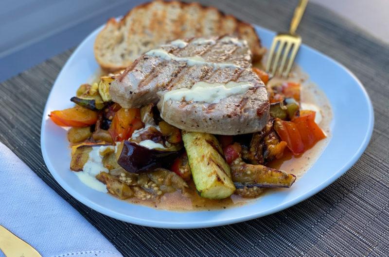 Grilled Tuna and Provençal Summer Vegetables