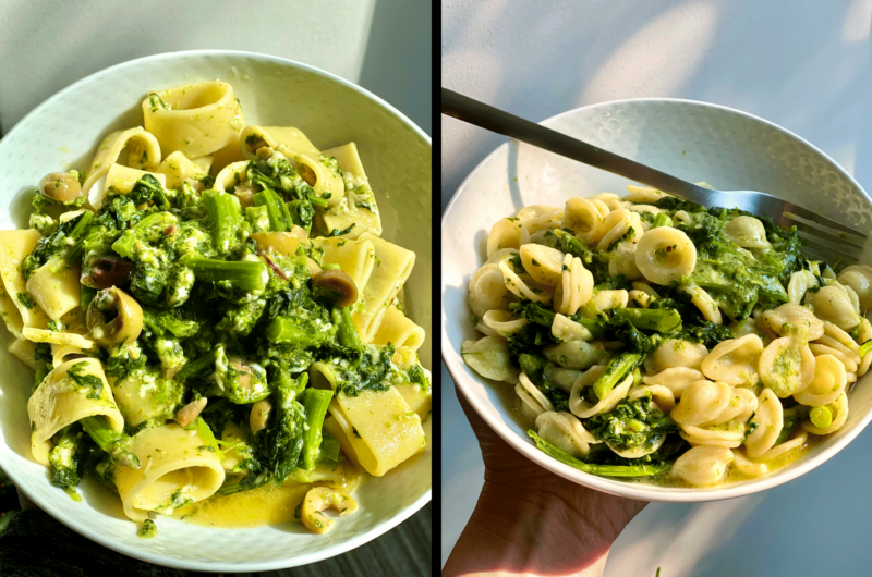 Pasta with Broccoli Rabe & all the Salty Italian things that make it good