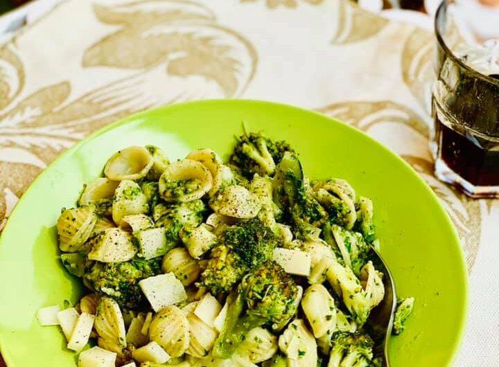 Orecchiette with Broccoli and Arugula Pesto